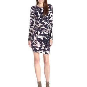 Tart Whitney Long Sleeve Dress in Painted Feathers